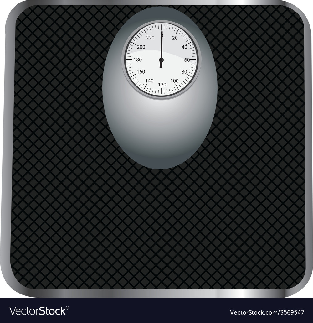 Black floor scales vector | Price: 1 Credit (USD $1)