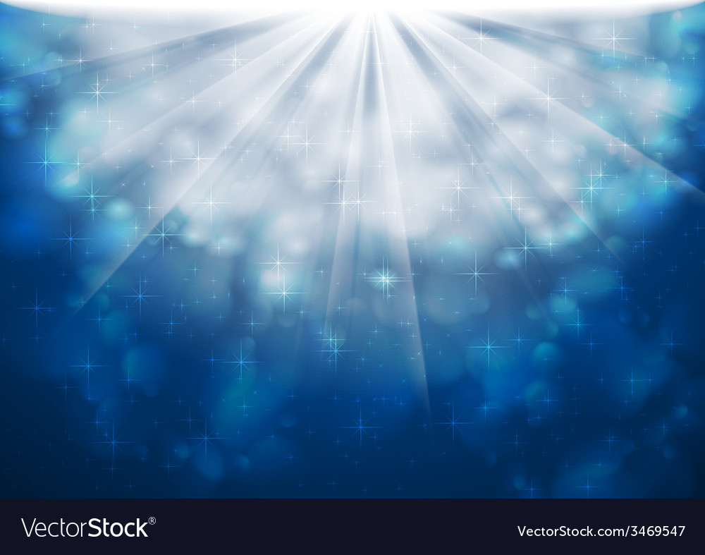 Blue sparkling lights shiny background vector | Price: 1 Credit (USD $1)