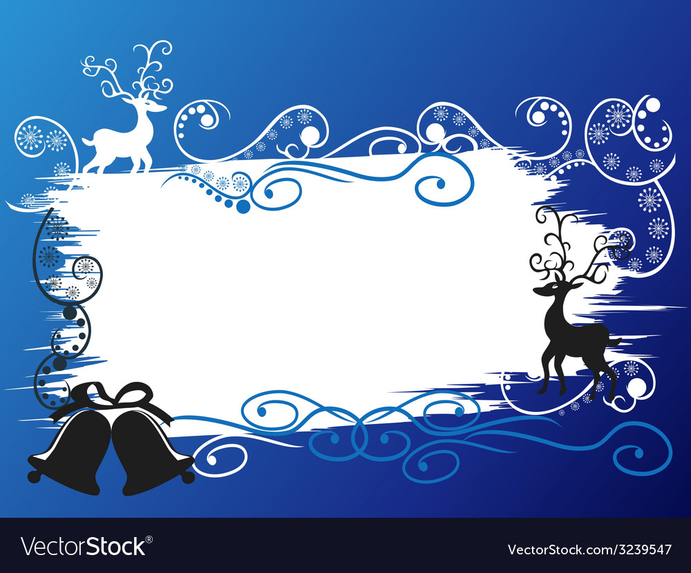 Christmas holiday deer banner card vector | Price: 1 Credit (USD $1)