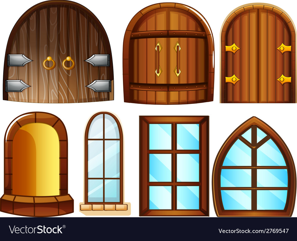 Doors and windows vector | Price: 1 Credit (USD $1)