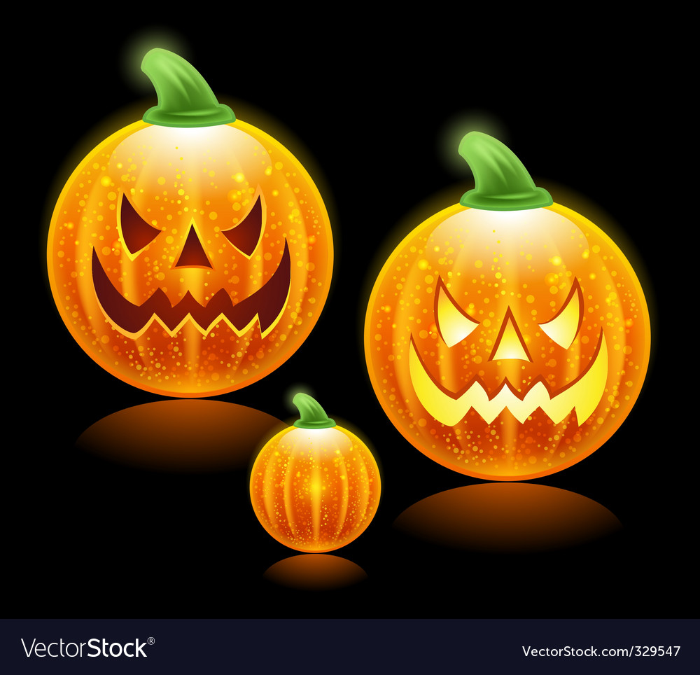 Halloween pumpkins family vector | Price: 1 Credit (USD $1)