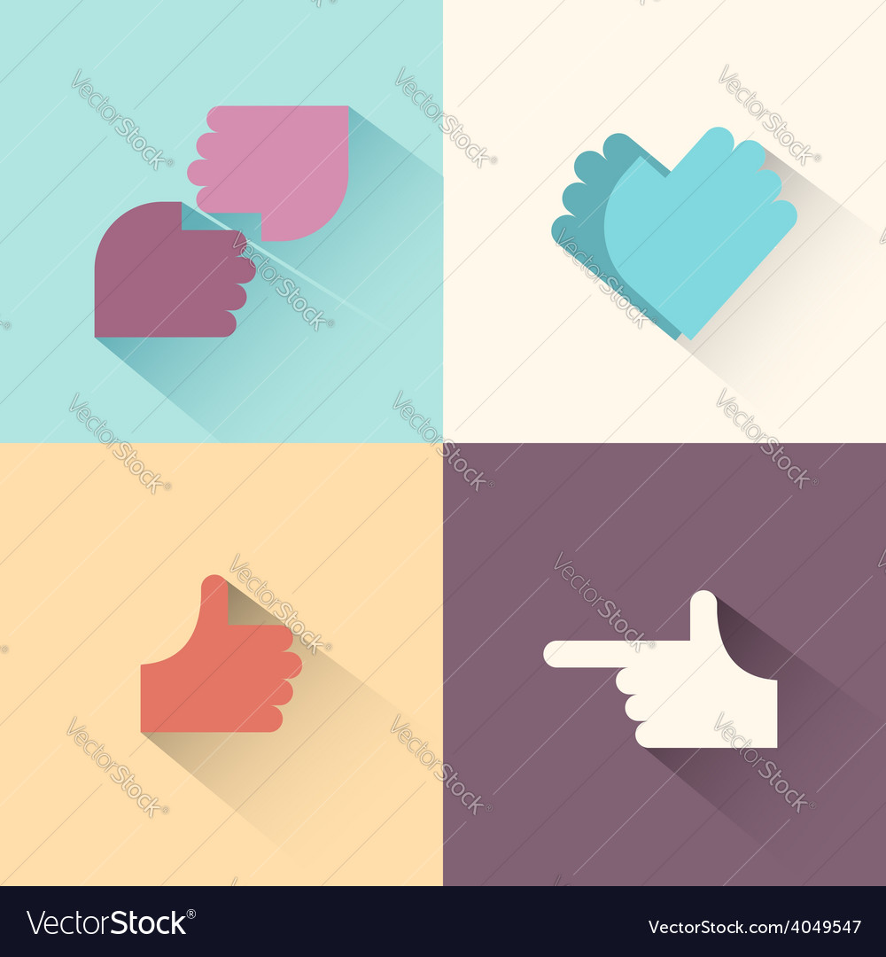 Hand gestures logo setsymbol of friendship the vector | Price: 1 Credit (USD $1)