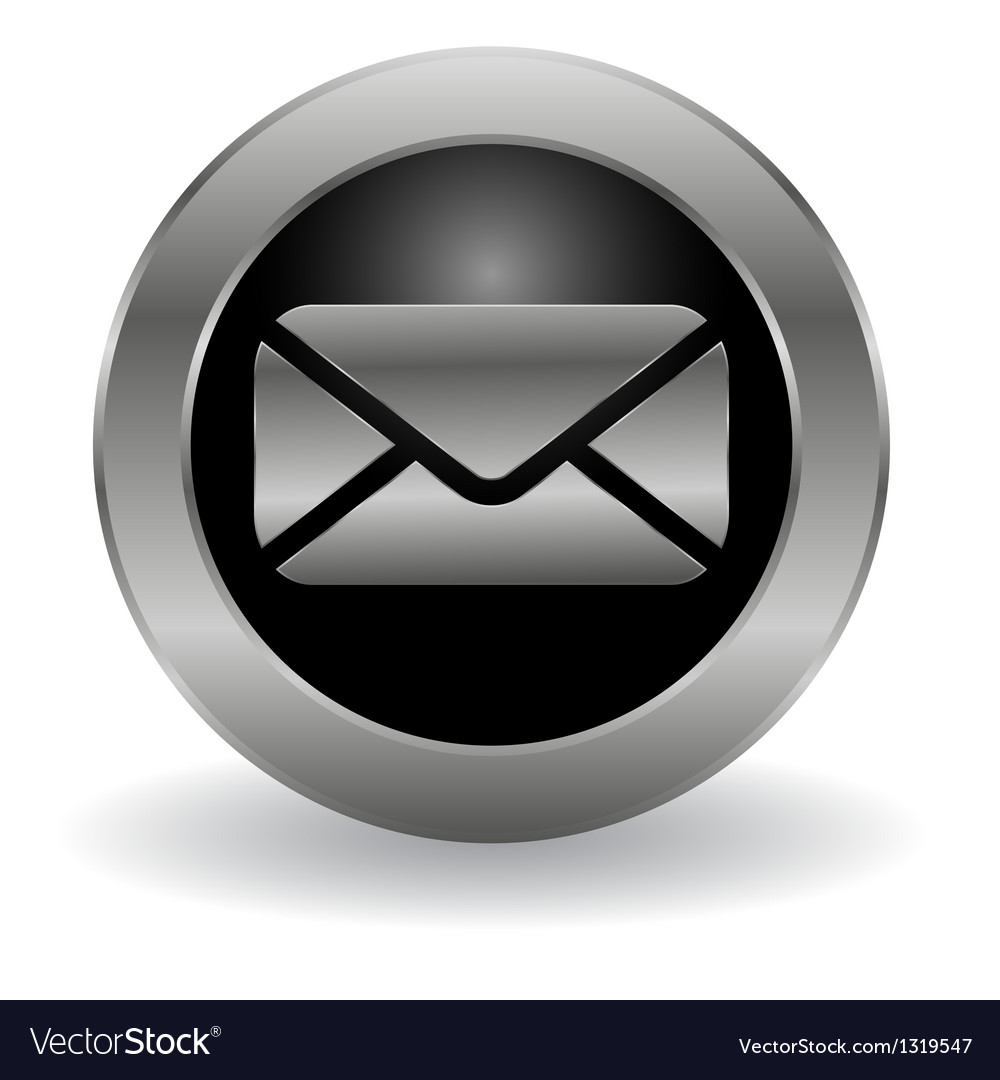 Metallic mail button vector   Price: 1 Credit (USD $1)