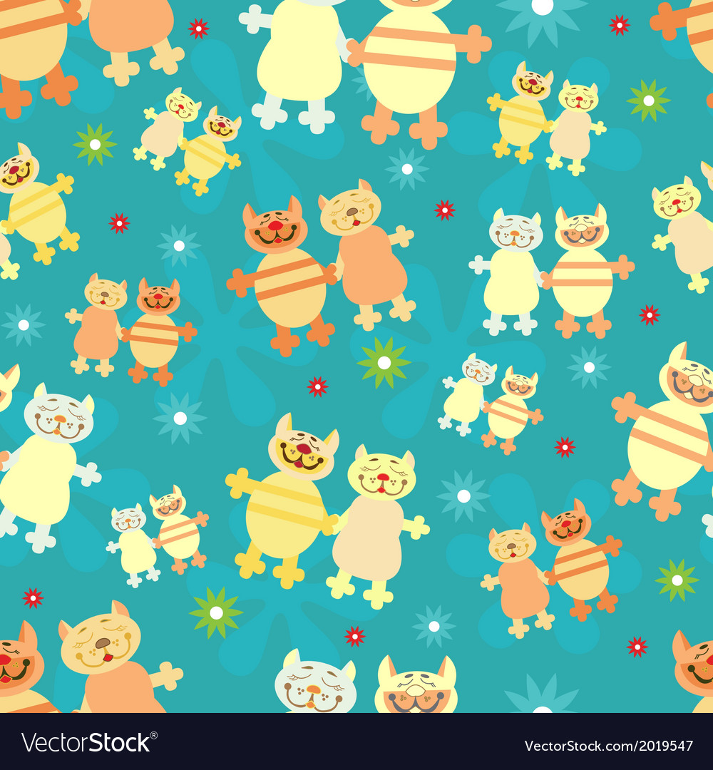 Pairs of cats vector | Price: 1 Credit (USD $1)