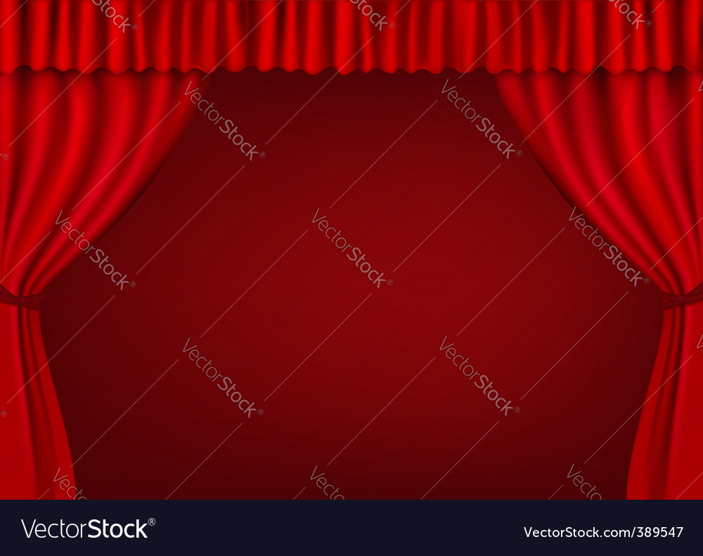 Red curtains vector | Price: 1 Credit (USD $1)