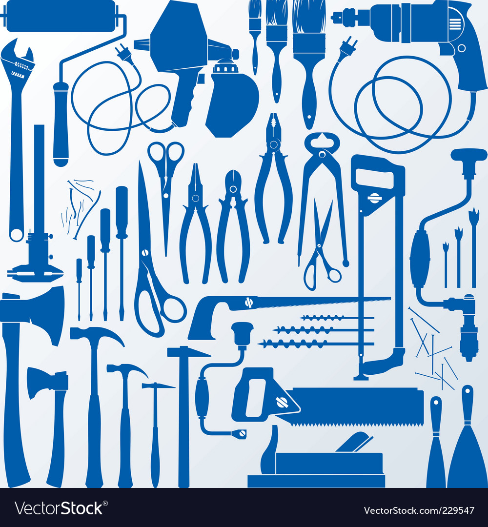 Tools silhouettes vector | Price: 1 Credit (USD $1)
