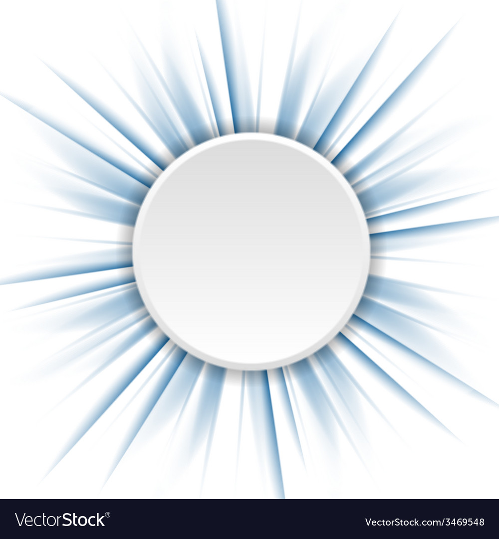 Blue beams and white circle vector | Price: 1 Credit (USD $1)
