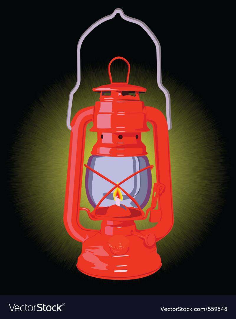 Burning oil lamp vector | Price: 1 Credit (USD $1)