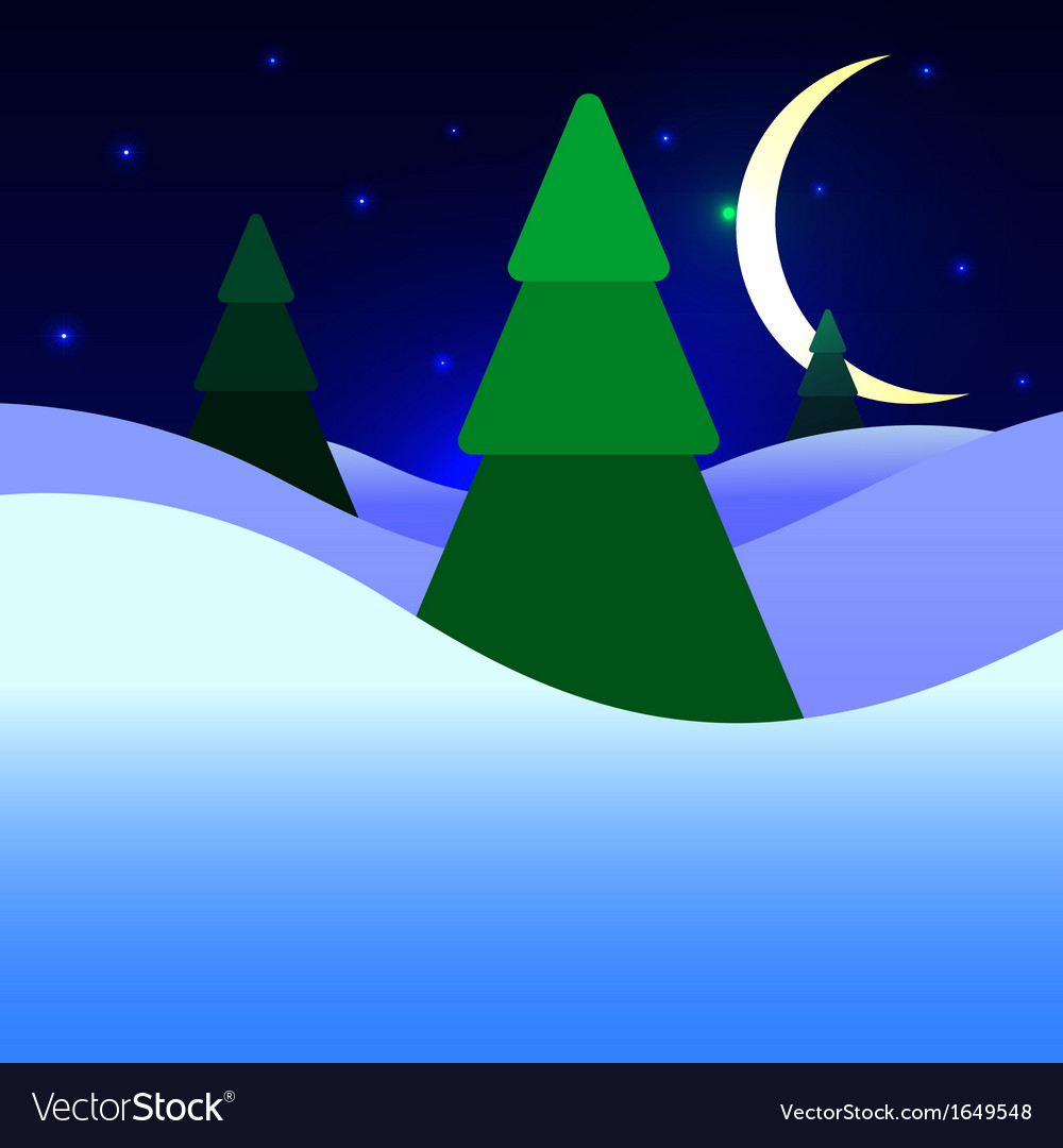Christmas night vector | Price: 1 Credit (USD $1)