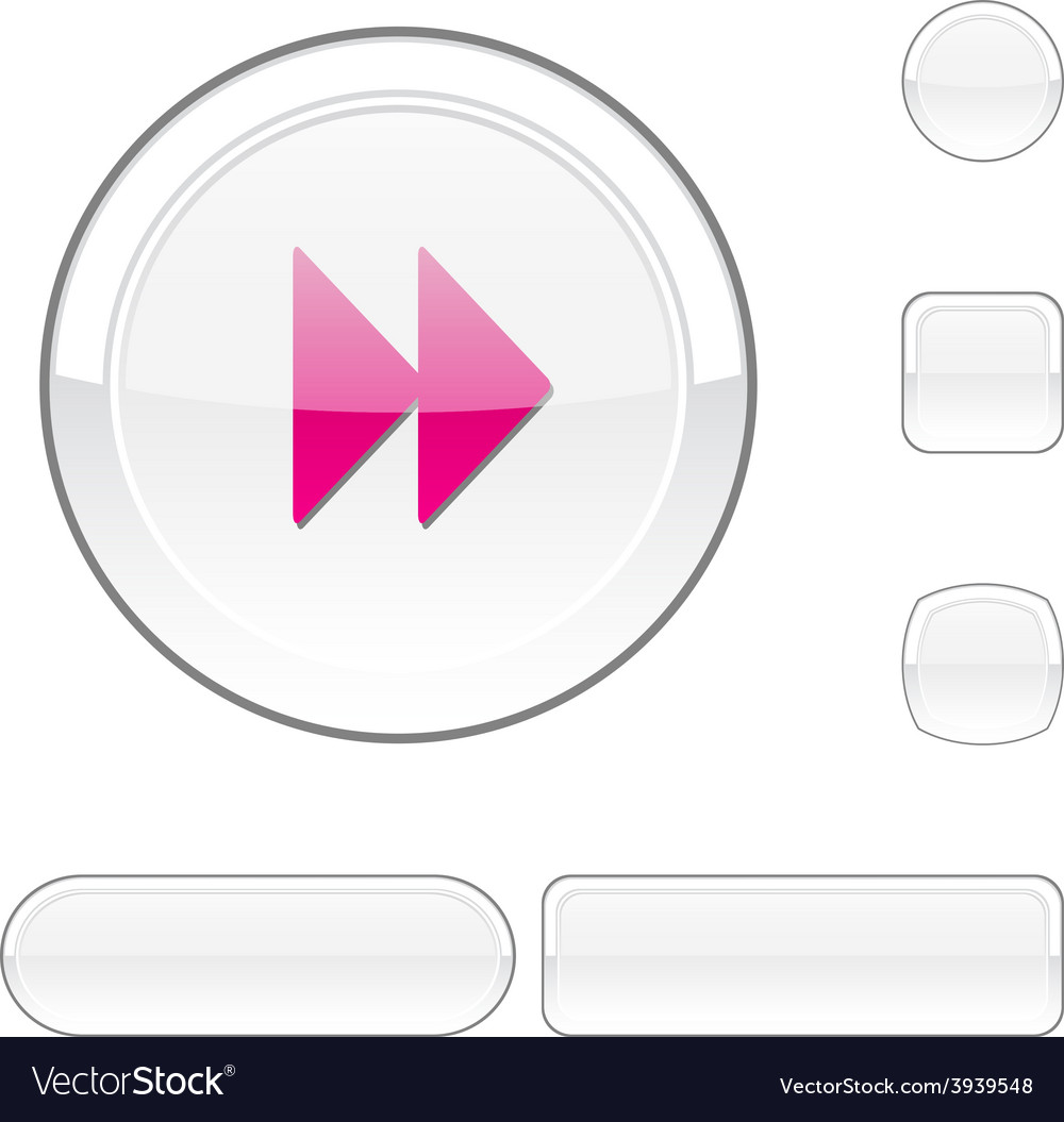 Forward white button vector | Price: 1 Credit (USD $1)