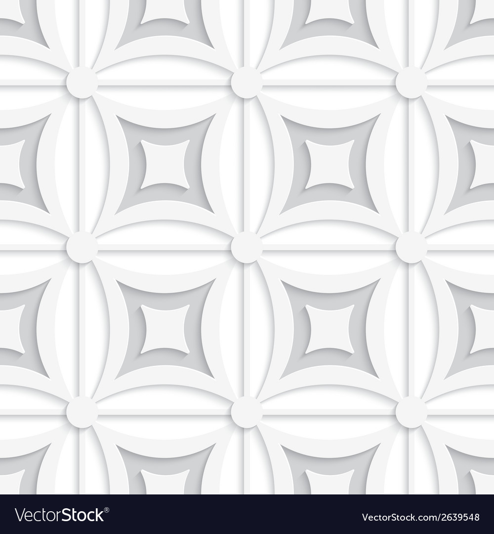 Geometric white and gray pattern with squares vector | Price: 1 Credit (USD $1)