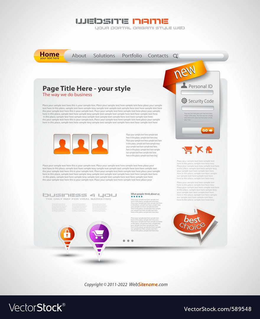 Hightech website vector   Price: 1 Credit (USD $1)
