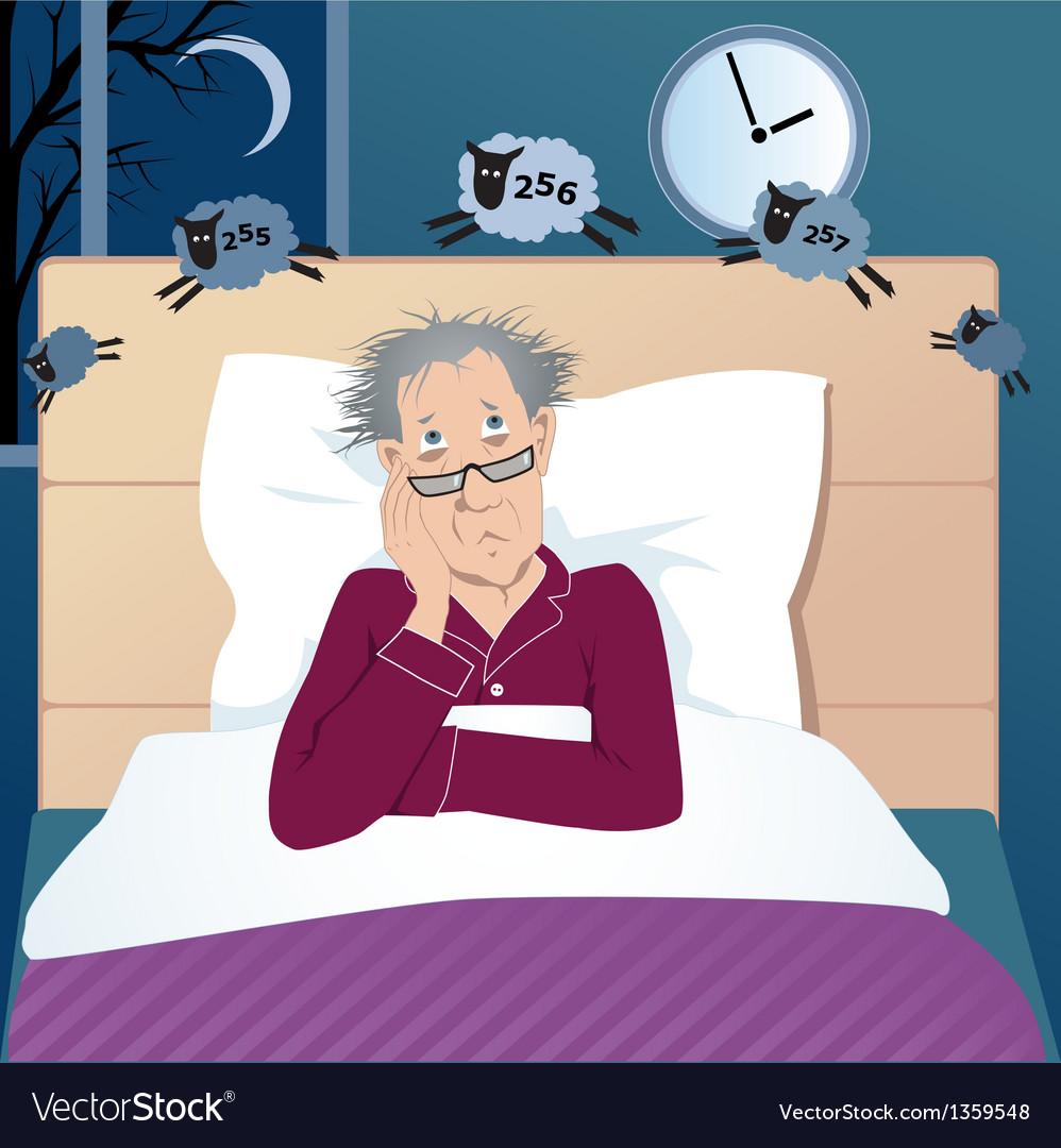 Insomniac man vector | Price: 3 Credit (USD $3)