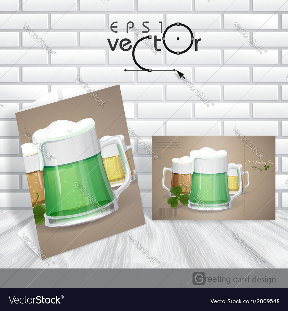 Mug of green beer for st patricks day  eps 10 vector | Price: 1 Credit (USD $1)