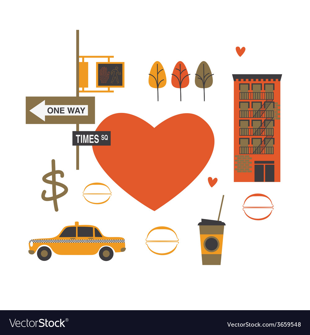 Nyc composition vector | Price: 1 Credit (USD $1)