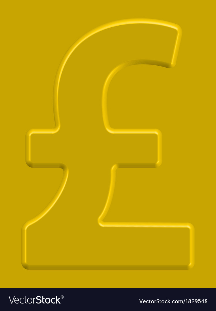 Pound sterling vector | Price: 1 Credit (USD $1)