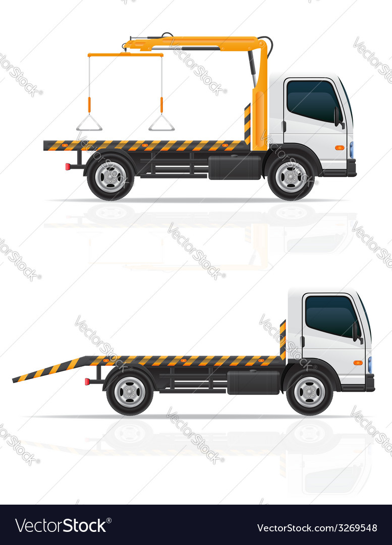 Tow truck 04 vector | Price: 3 Credit (USD $3)