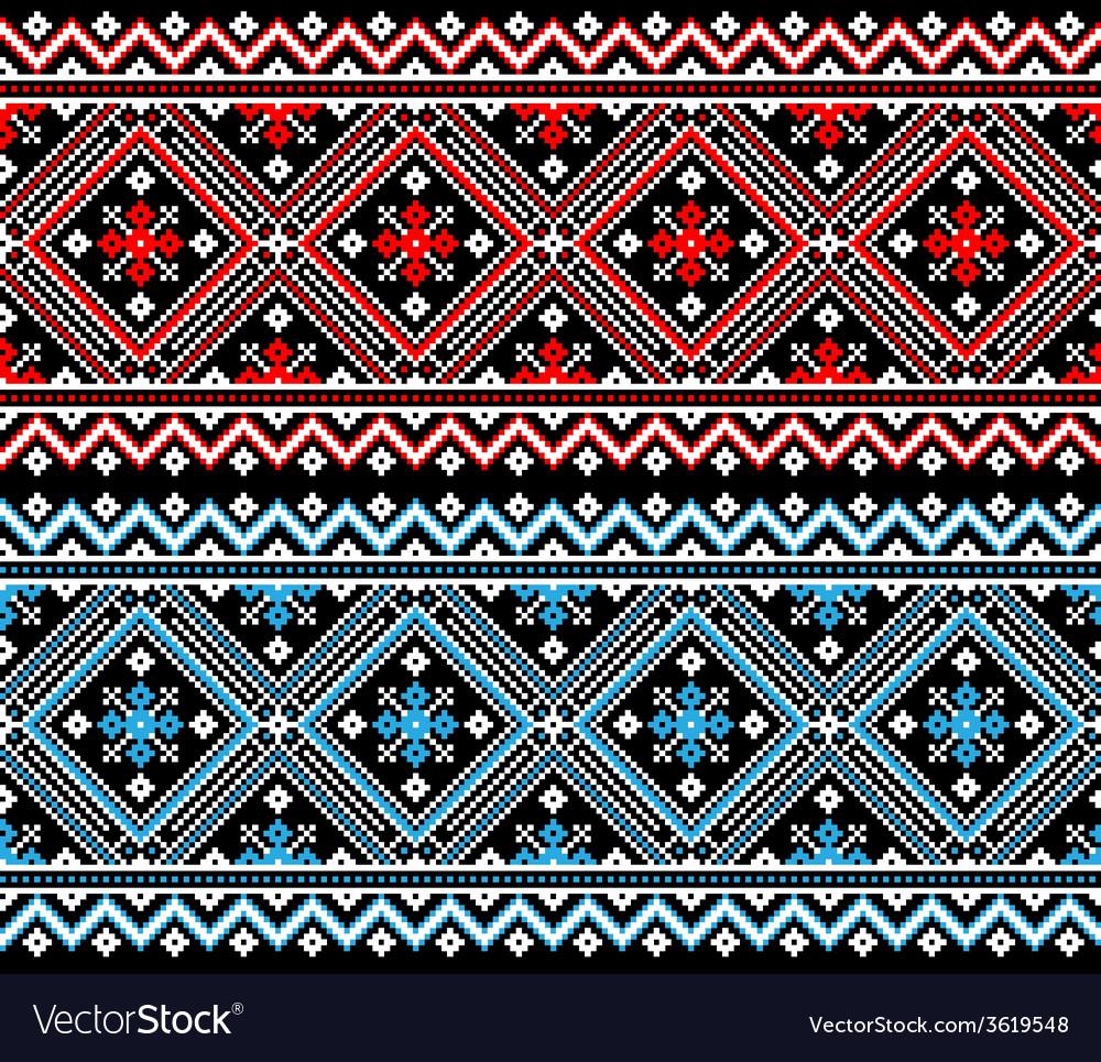 Ukrainian folk seamless pattern ornament ethnic vector | Price: 1 Credit (USD $1)