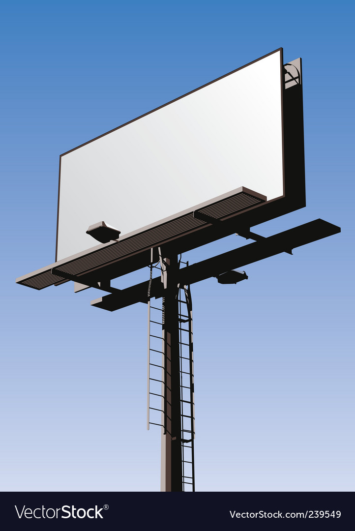 Billboard sign vector   Price: 1 Credit (USD $1)