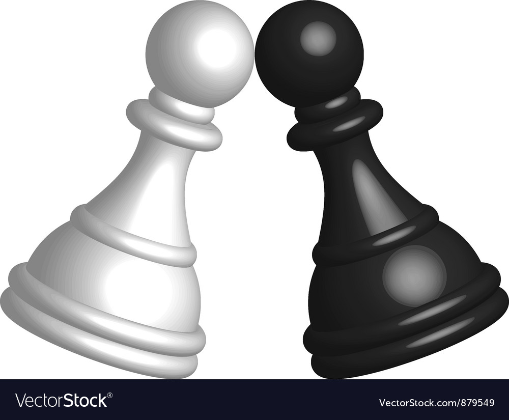 Black and white pawn vector | Price: 1 Credit (USD $1)