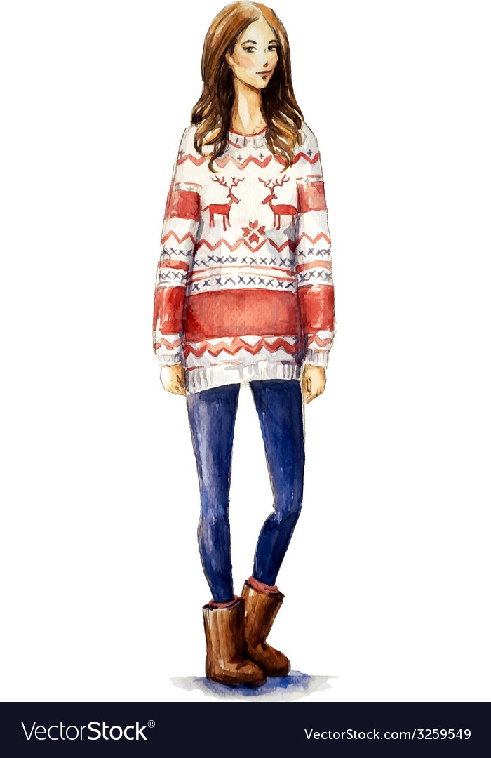 Christmas look vector | Price: 3 Credit (USD $3)