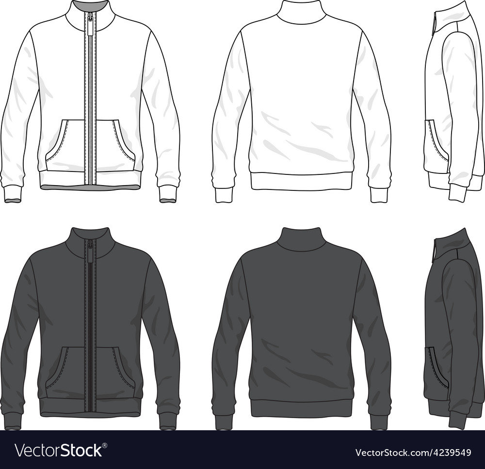 Front back and side views of blank jacket with vector | Price: 1 Credit (USD $1)