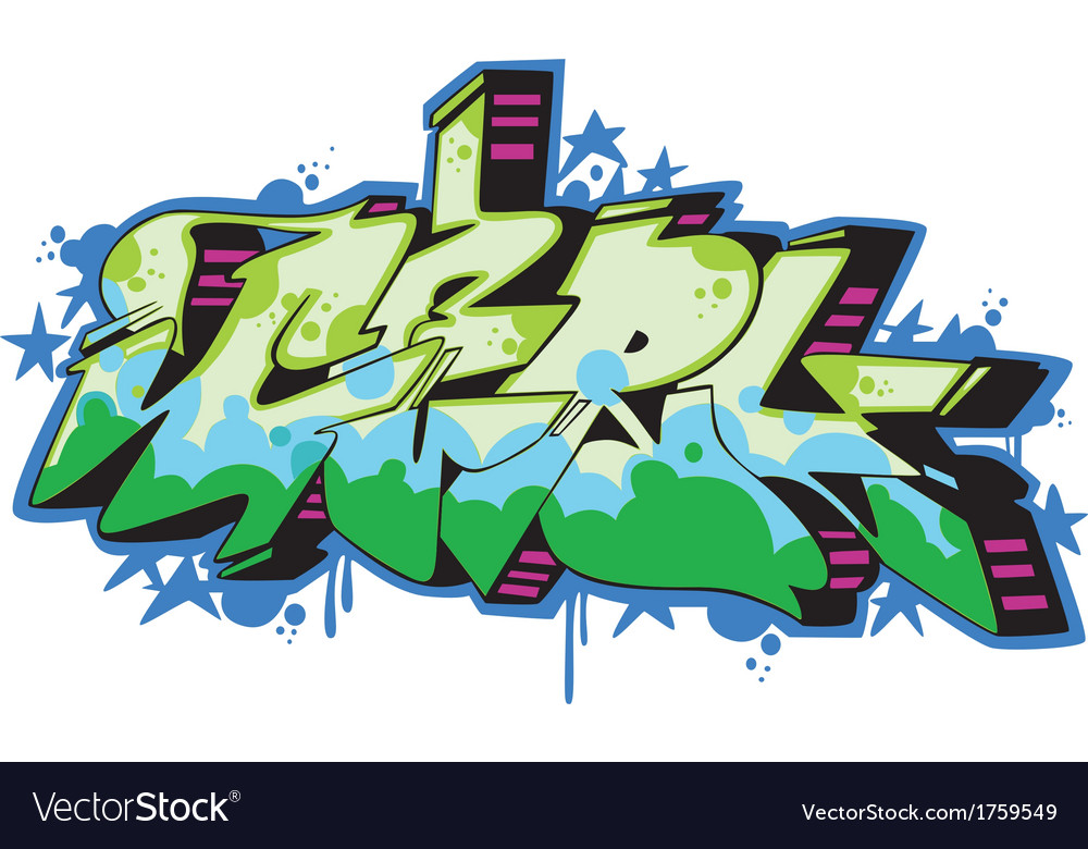 Graffito - girl vector | Price: 1 Credit (USD $1)