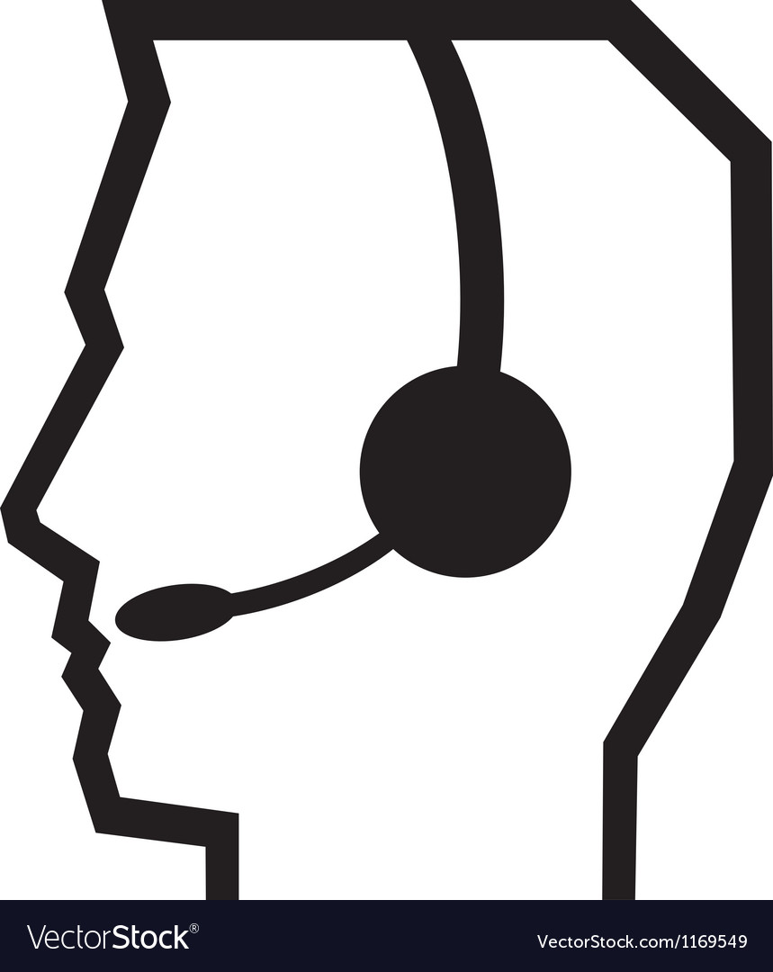 Headset call center vector | Price: 1 Credit (USD $1)