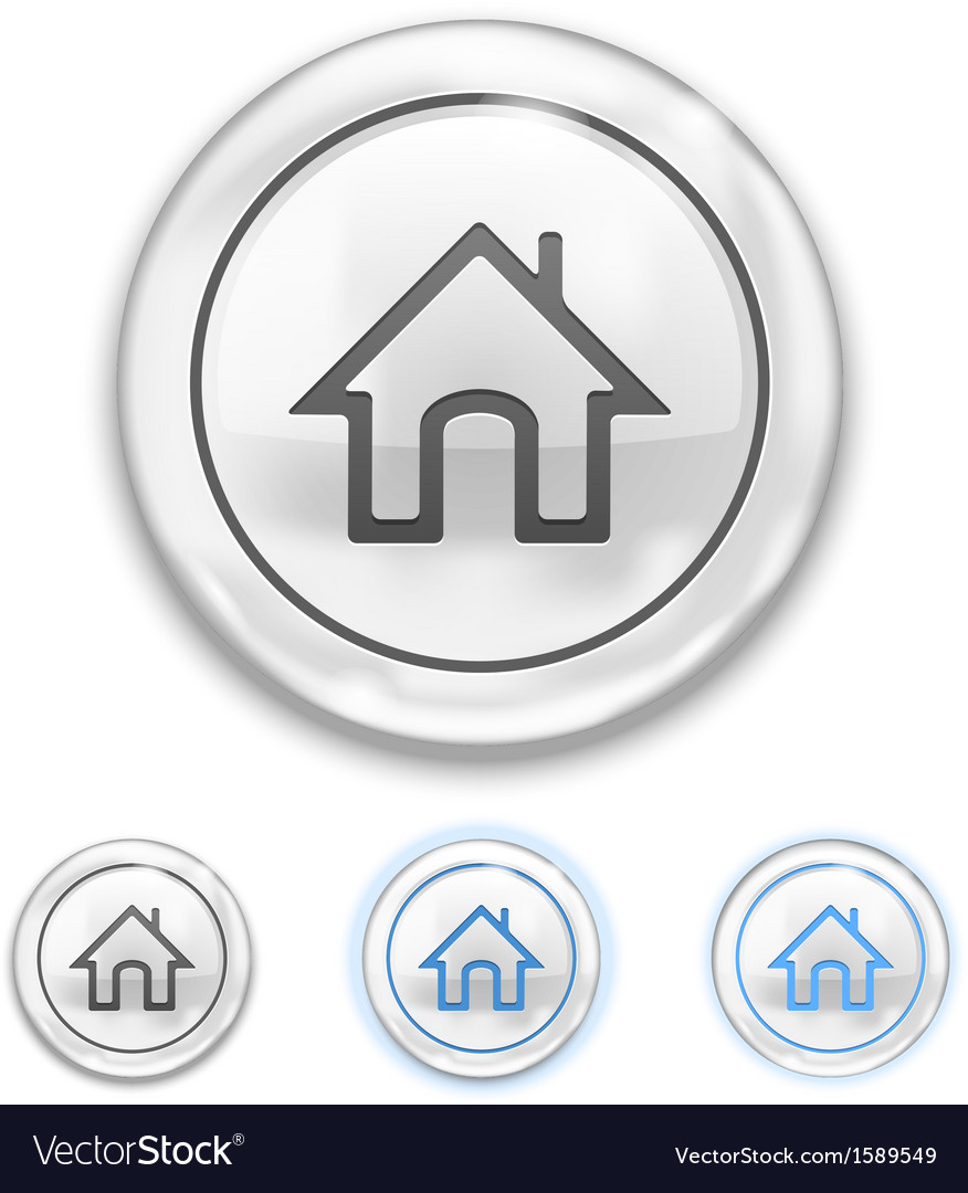 Home icon on button vector | Price: 1 Credit (USD $1)