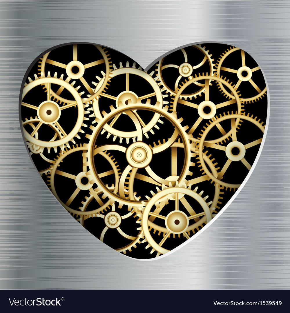 Metal heart vector | Price: 1 Credit (USD $1)