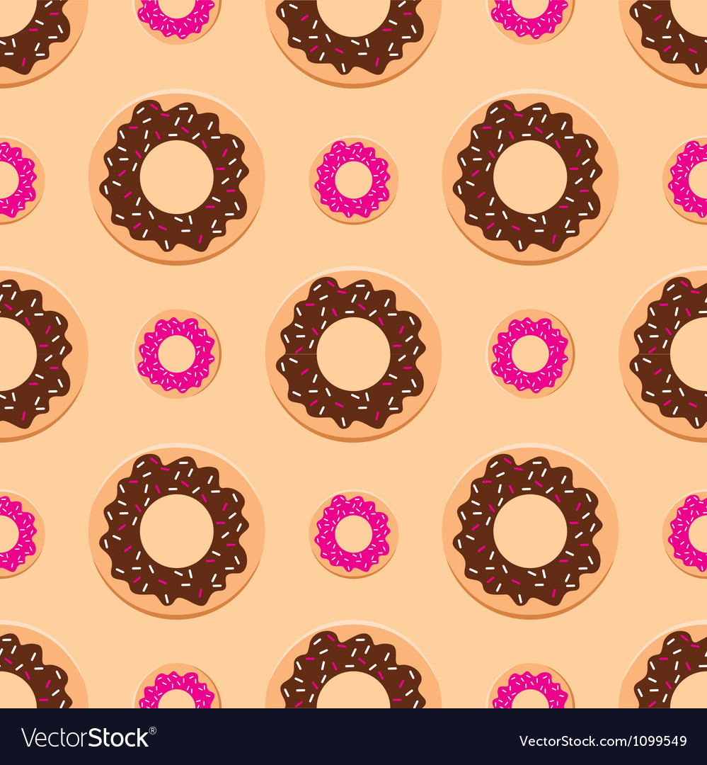 Seamless donuts pattern vector | Price: 1 Credit (USD $1)