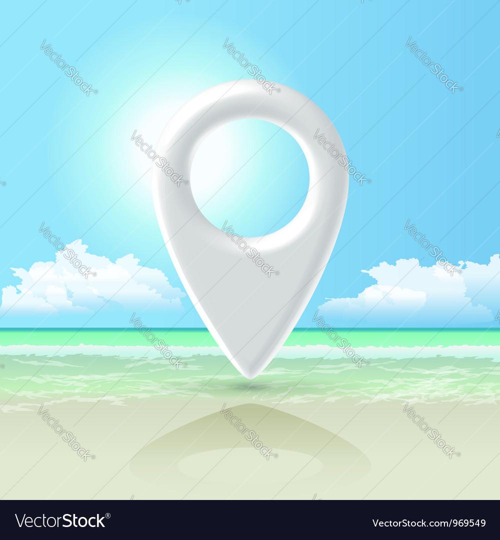 Seashore pin vector | Price:  Credit (USD $)