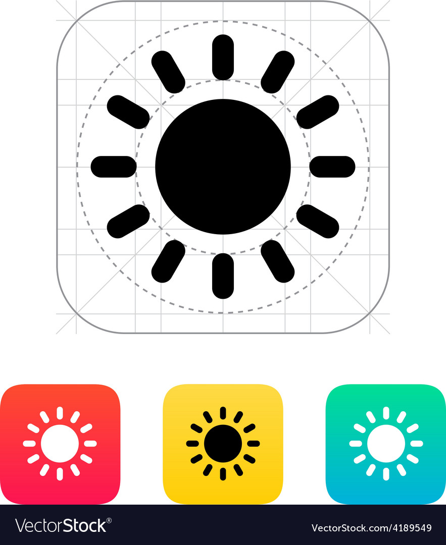 Sun weather icon vector | Price: 1 Credit (USD $1)