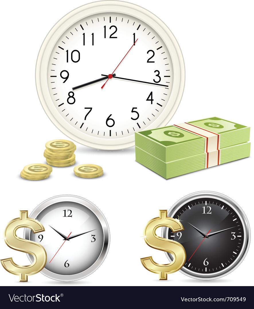 Time is money vector | Price: 3 Credit (USD $3)
