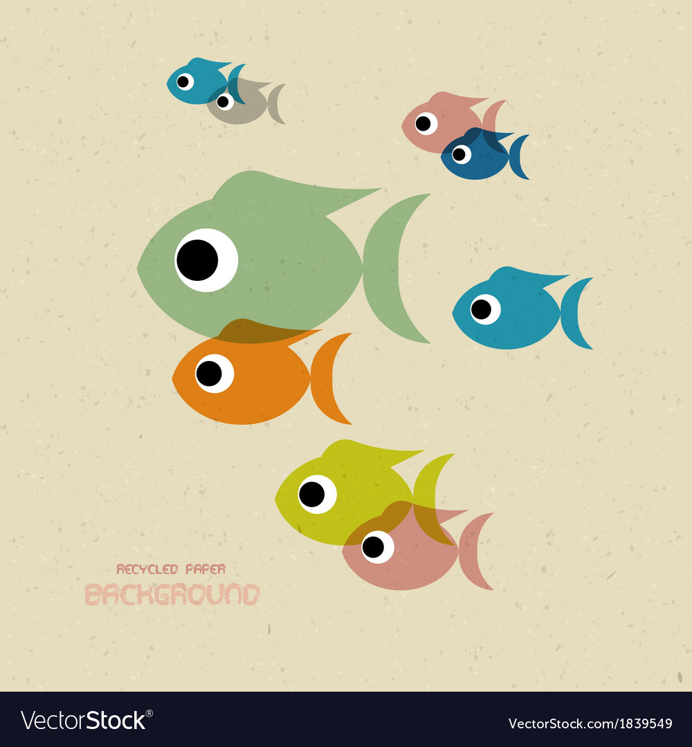 Transparent colorful fish icons vector | Price: 1 Credit (USD $1)