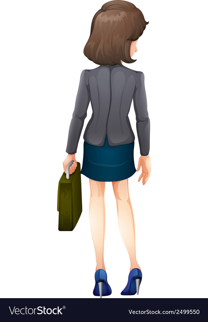 A backview of a businesswoman vector | Price: 1 Credit (USD $1)