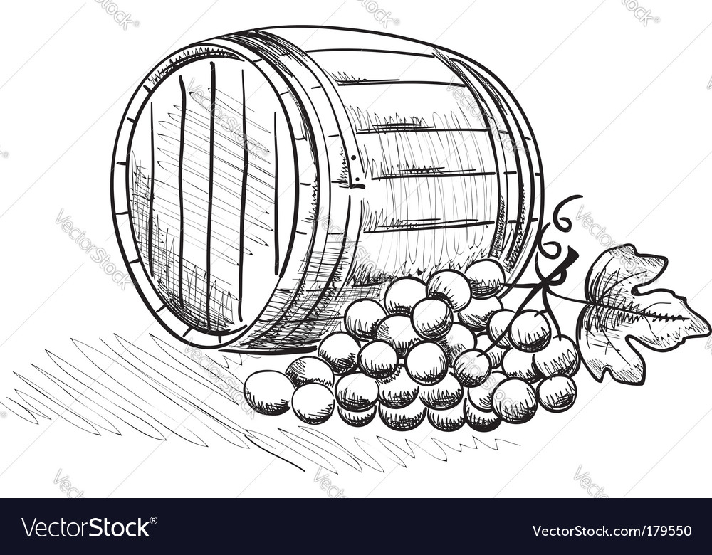 Barrel of grapes vector | Price: 1 Credit (USD $1)
