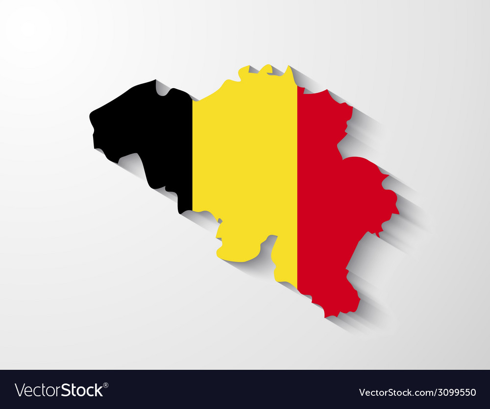 Belgium map with shadow effect vector | Price: 1 Credit (USD $1)