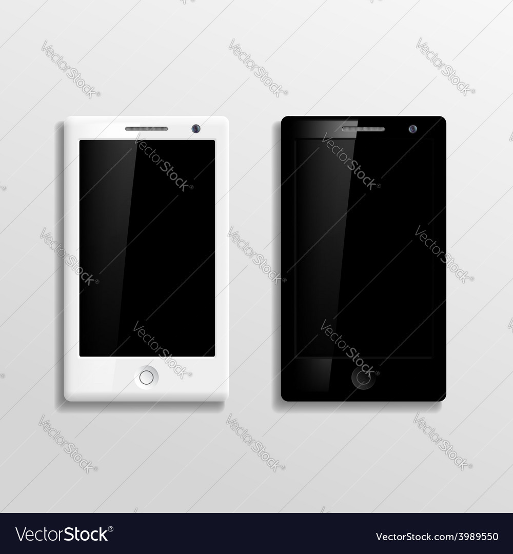 Black and white smartphones vector | Price: 1 Credit (USD $1)