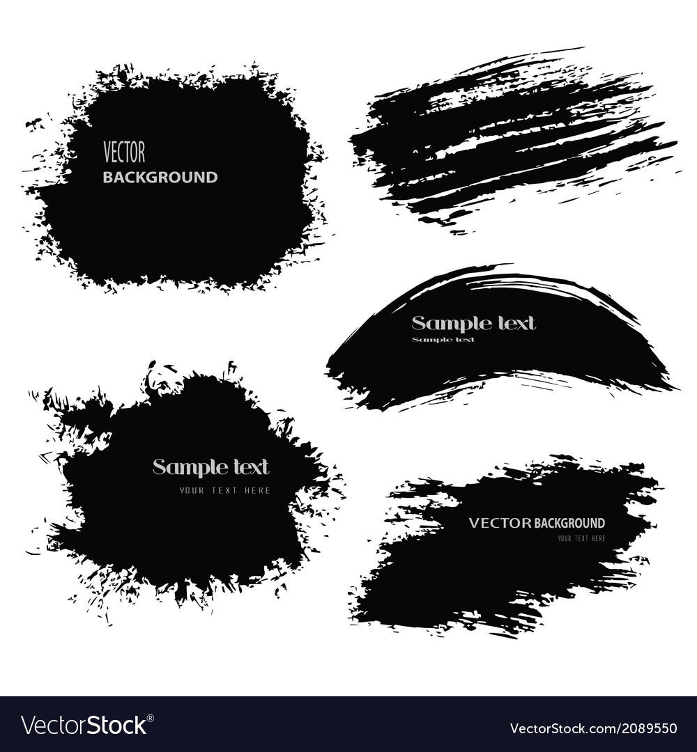 Black blobs vector | Price: 1 Credit (USD $1)