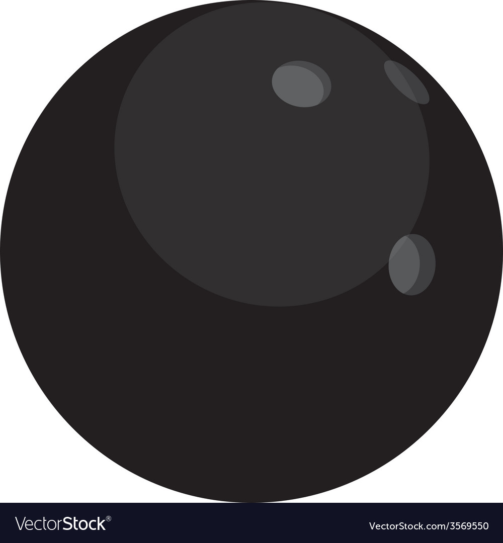 Black bowling ball vector | Price: 1 Credit (USD $1)