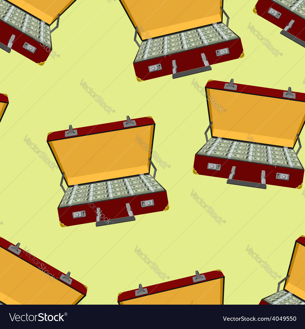 Case with money seamless pattern vector | Price: 1 Credit (USD $1)
