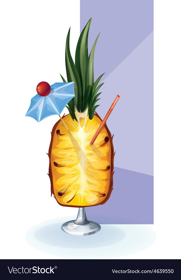 Cocktail decor styled exotic fruit vector | Price: 1 Credit (USD $1)