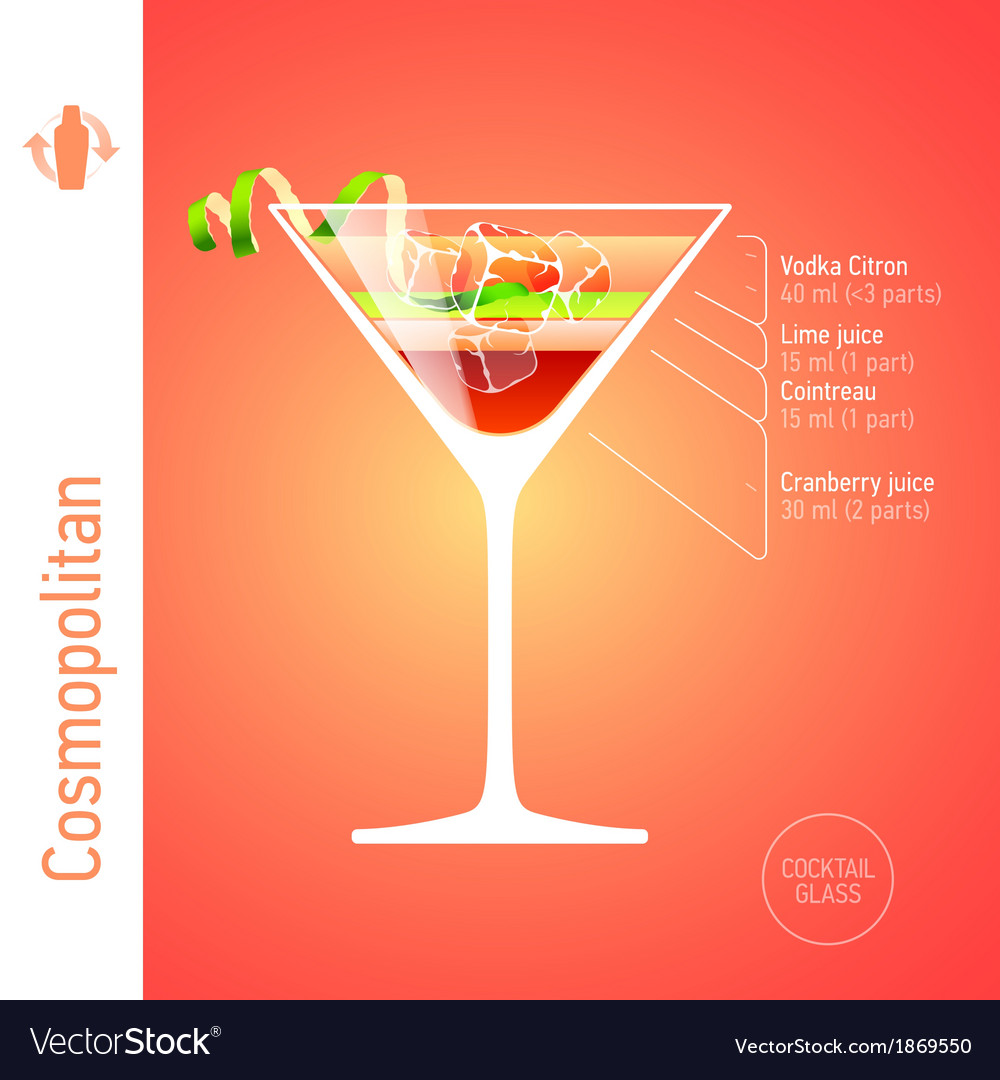 Cosmopolitan cocktail vector | Price: 1 Credit (USD $1)