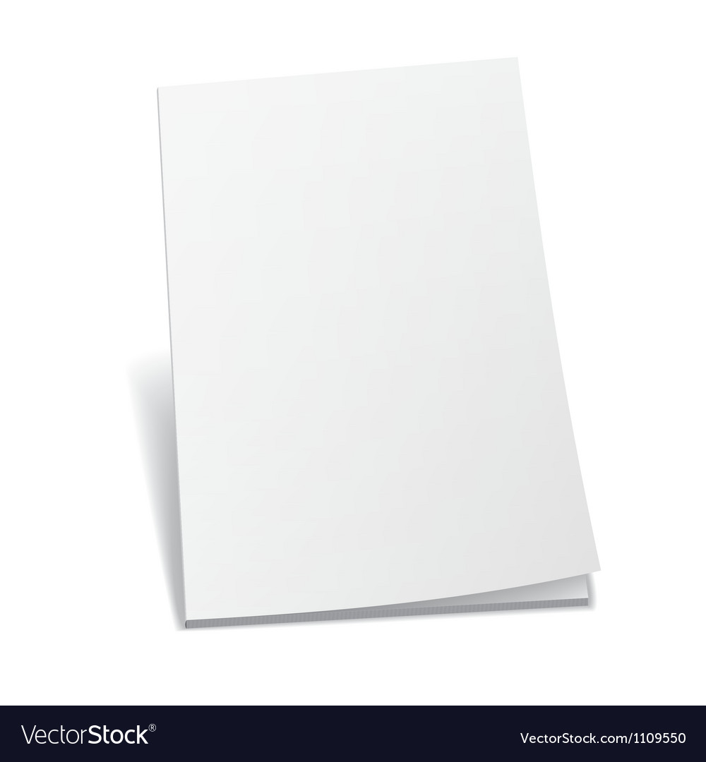 Empty white books vector | Price: 1 Credit (USD $1)