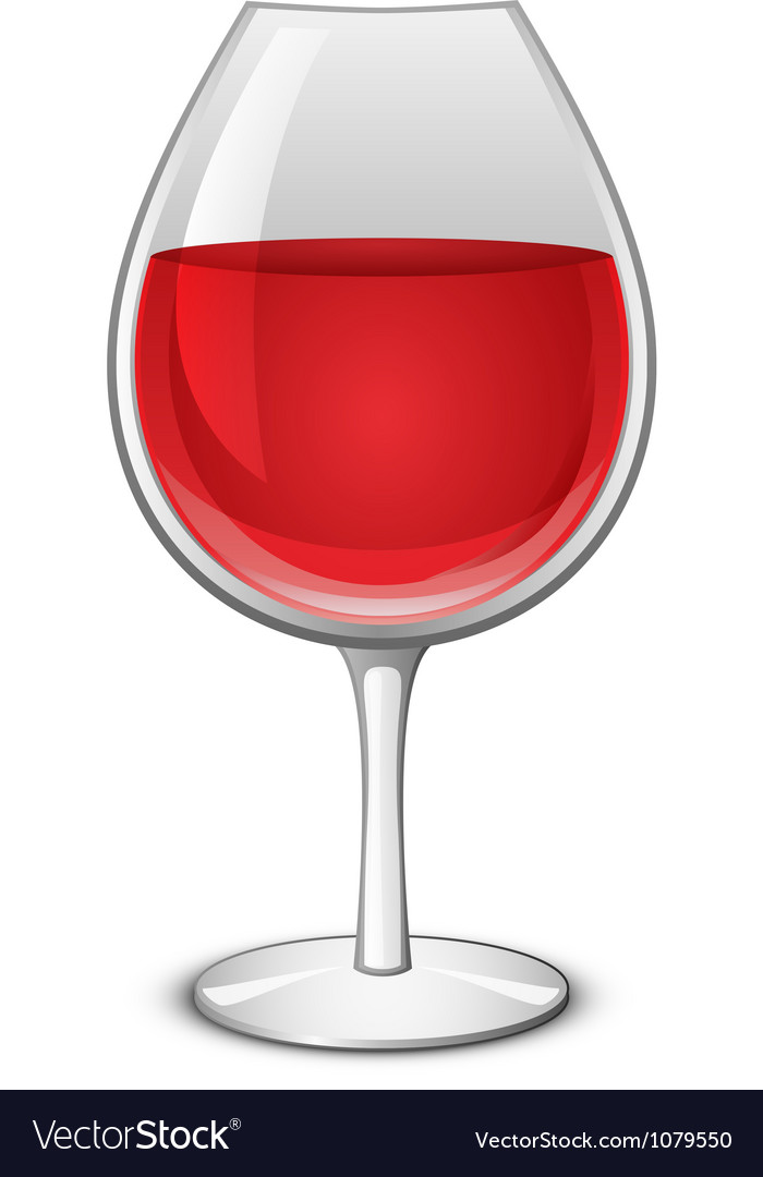 Glass of wine vector | Price: 1 Credit (USD $1)