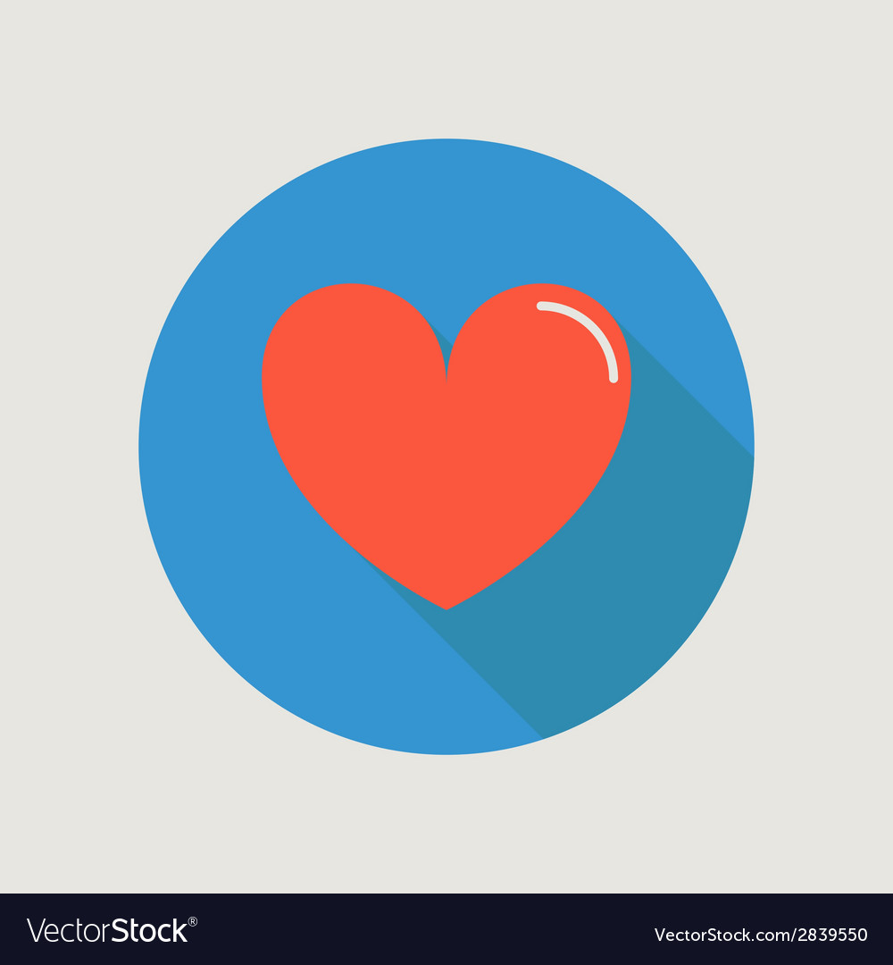 Heart icon concept love relationship valentines vector | Price: 1 Credit (USD $1)