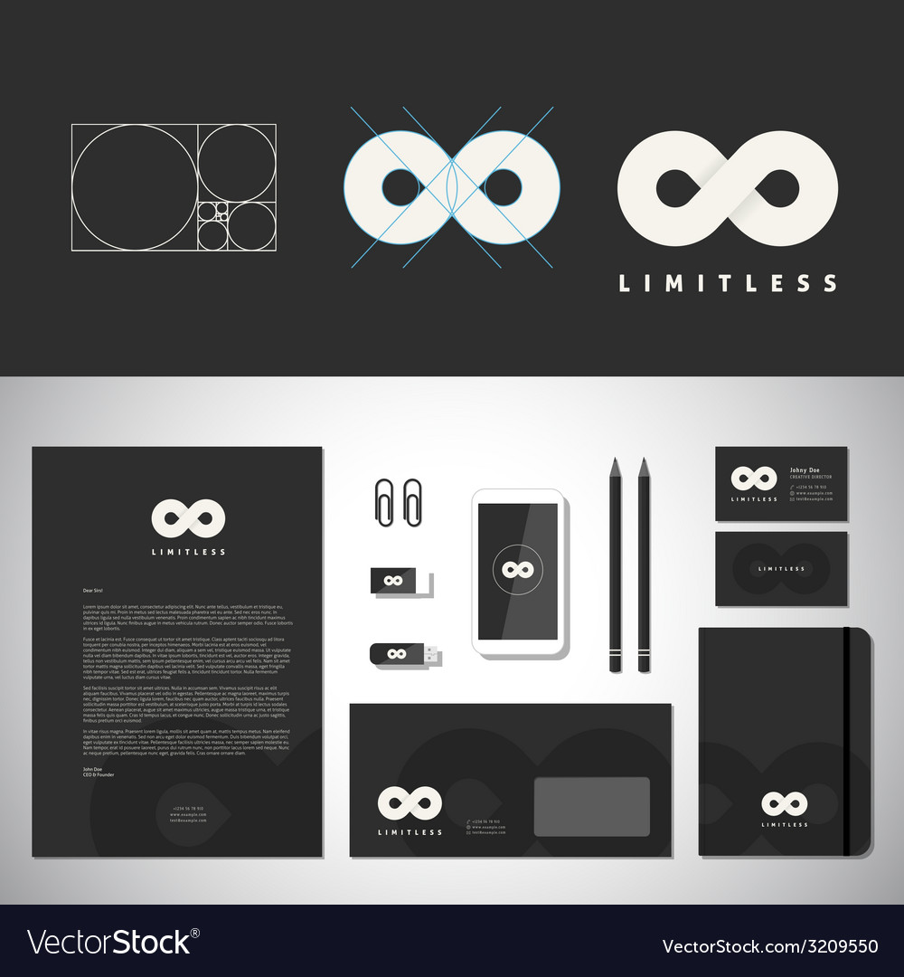 Limitless abstract logo template and identity vector   Price: 1 Credit (USD $1)