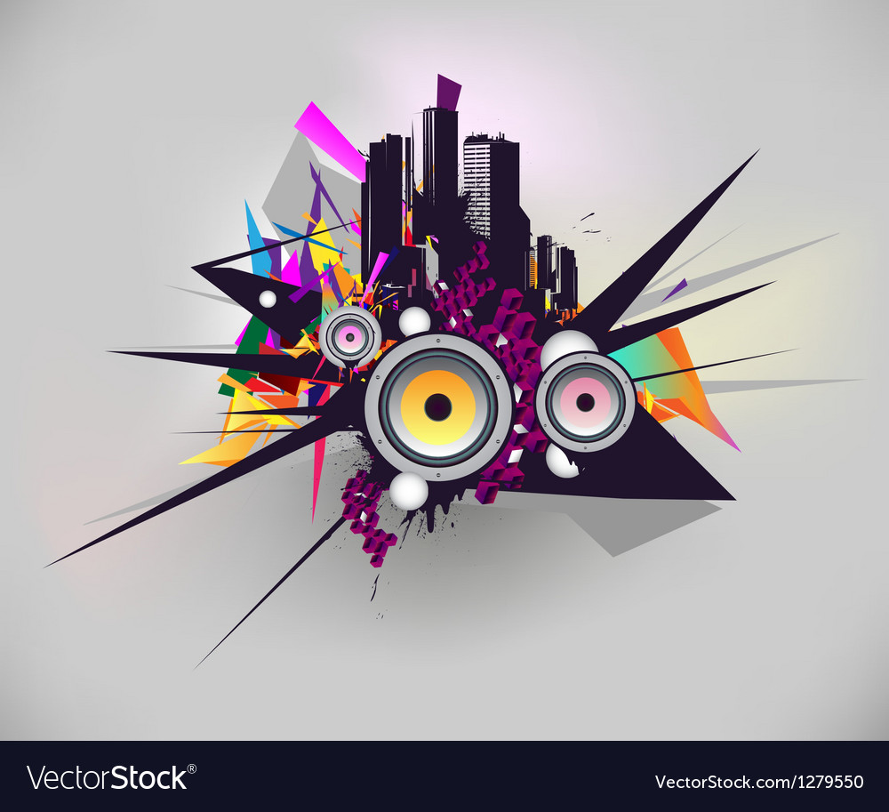 Music urban poster vector | Price: 1 Credit (USD $1)