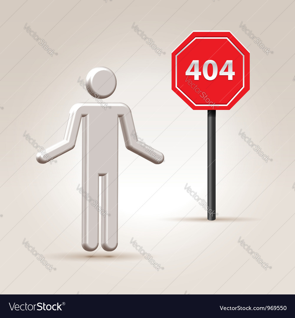 Sign 404 vector | Price:  Credit (USD $)